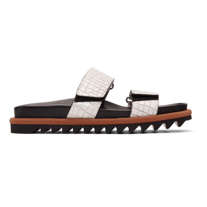 Photo: Dries Van Noten White Croc Slides