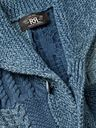 RRL - Shawl-Collar Patchwork Cable-Knit Cotton and Linen-Blend Cardigan - Blue