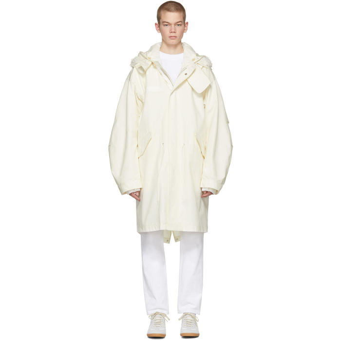 Photo: Helmut Lang Off-White Re-Edition Hooded Parka