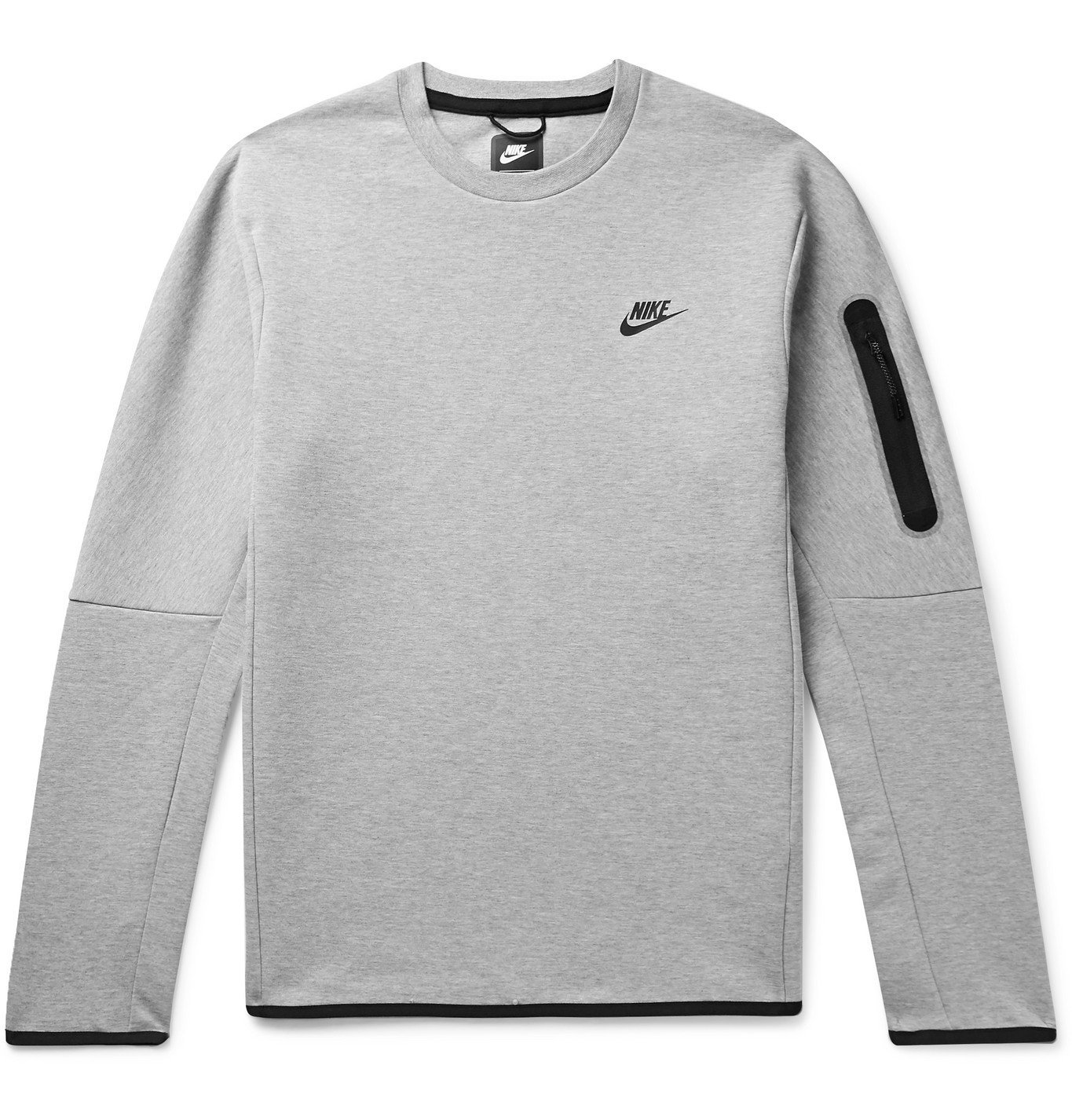 Photo: Nike - Mélange Tech Fleece Sweatshirt - Gray