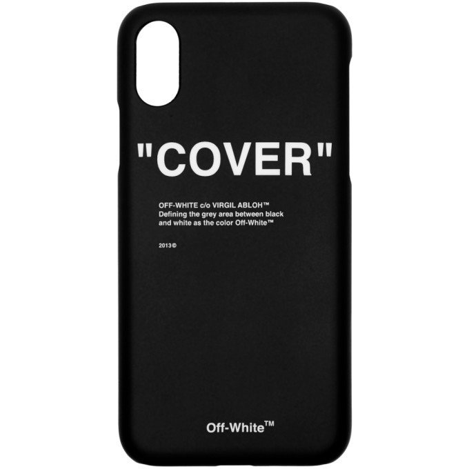 Photo: Off-White SSENSE Exclusive Black Quote iPhone X Case
