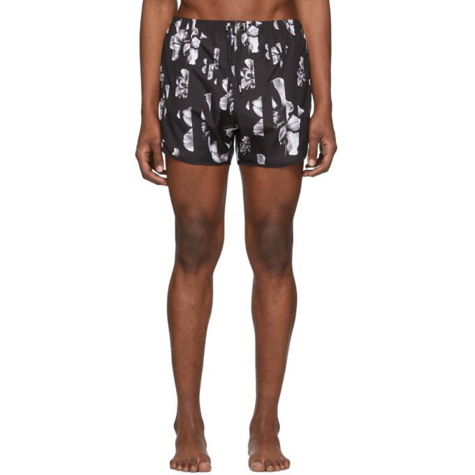 Photo: Neil Barrett Black Flower Swim Shorts