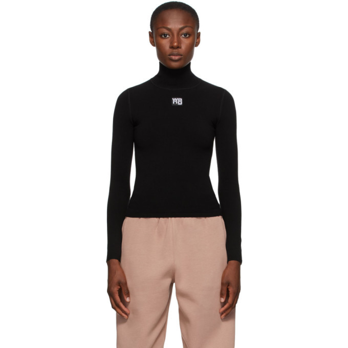 Photo: alexanderwang.t Black Logo Patch Turtleneck
