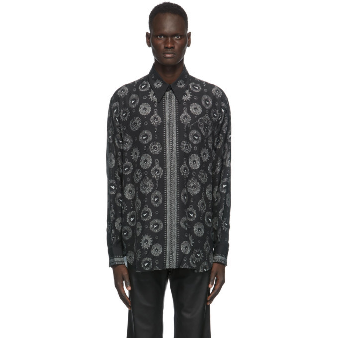Photo: Givenchy Black and Grey Jewelry Printed Shirt