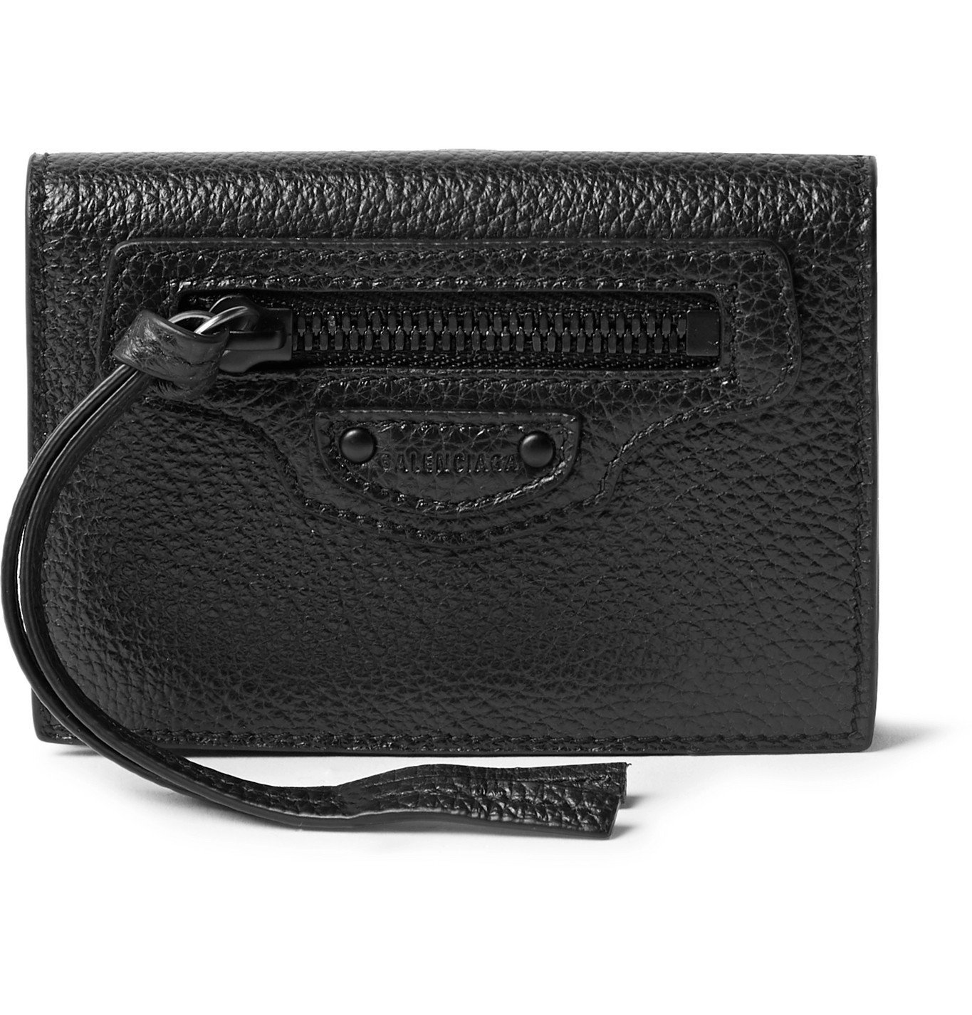 Photo: Balenciaga - Full-Grain Leather Coin Wallet - Black