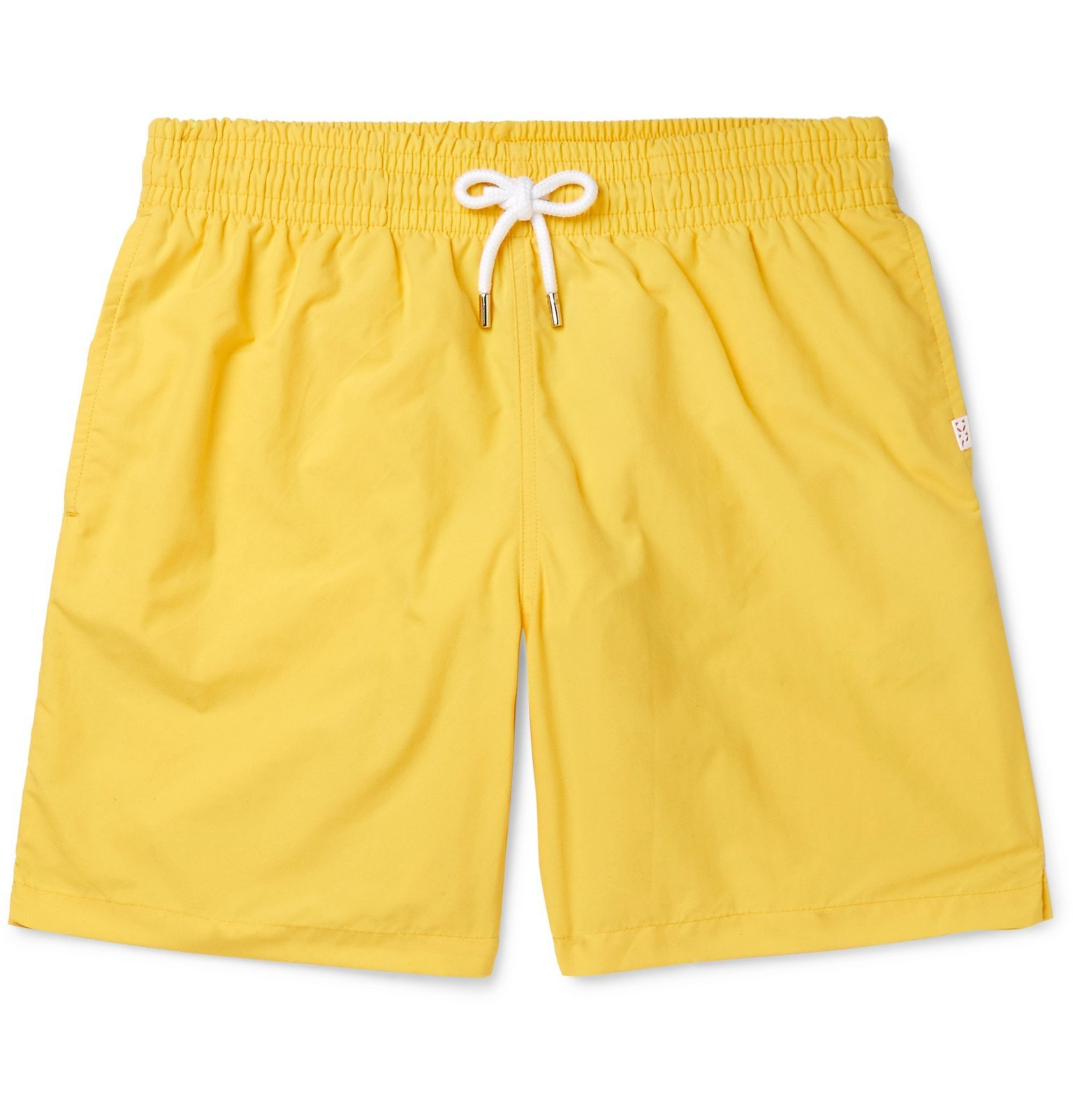 Photo: Derek Rose - Aruba 1 Slim-Fit Mid-Length Swim Shorts - Yellow