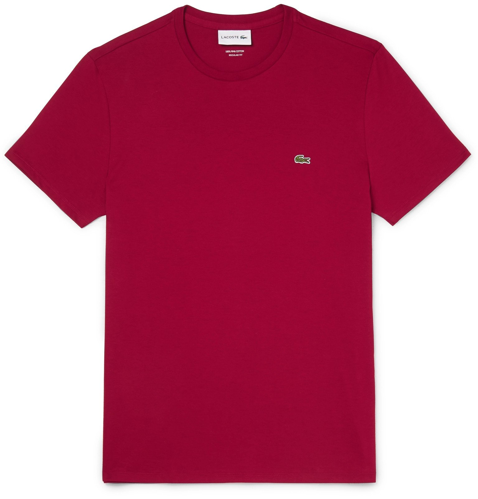 Photo: Lacoste - Pima Cotton-Jersey T-Shirt - Burgundy