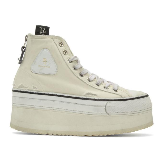white sneakers high platform
