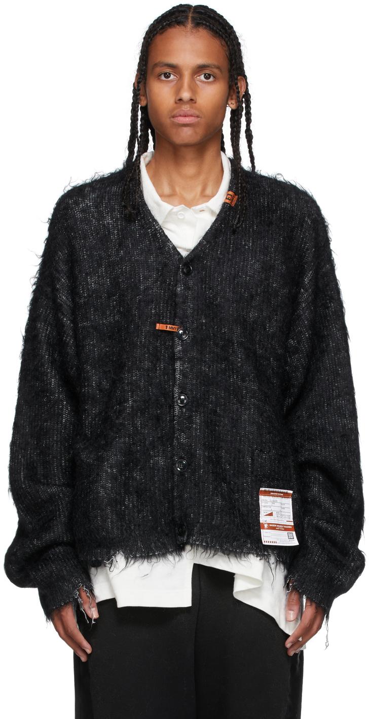 Photo: Miharayasuhiro Black Mohair Knit Cardigan