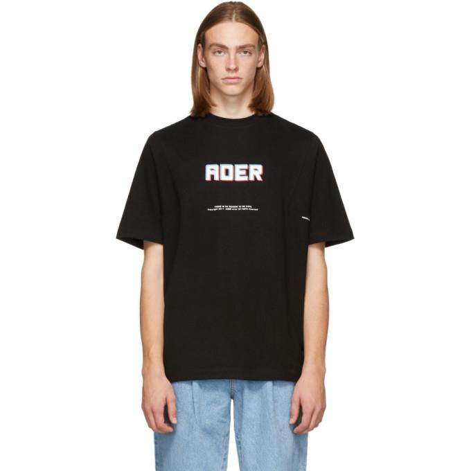 Photo: ADER error SSENSE Exclusive Black Logo T-Shirt