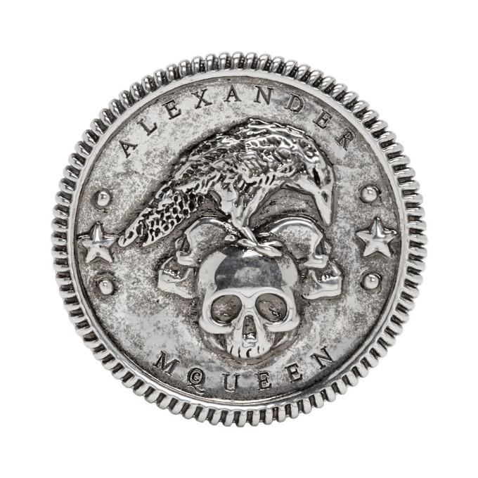 Photo: Alexander McQueen Silver Crow Medallion Ring