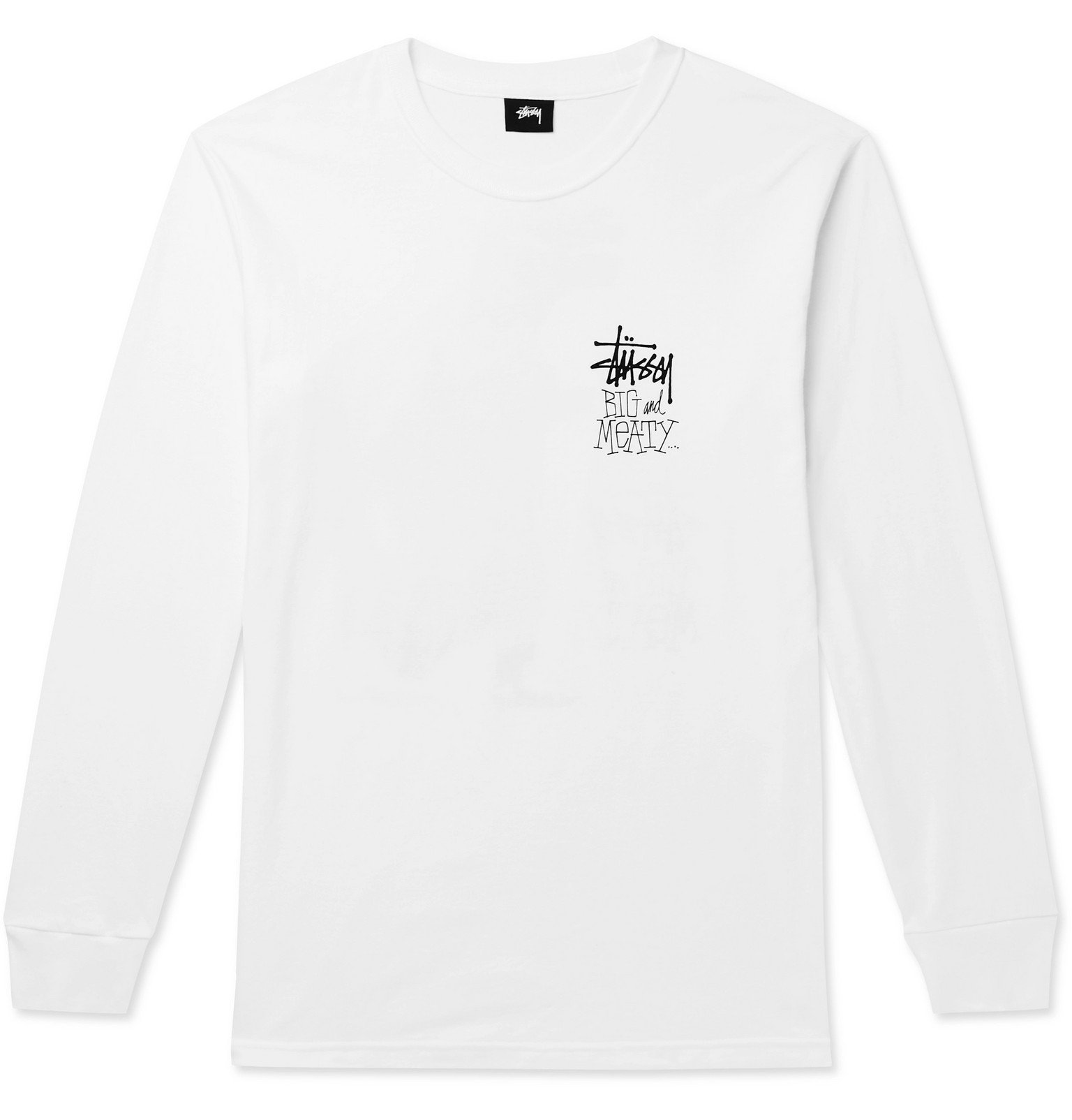 Photo: Stüssy - Printed Cotton-Jersey T-Shirt - White