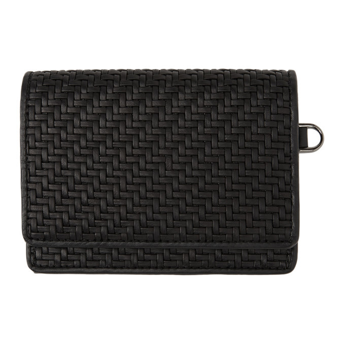 Photo: Ermenegildo Zegna Black Pelletessuta Bifold Card Holder
