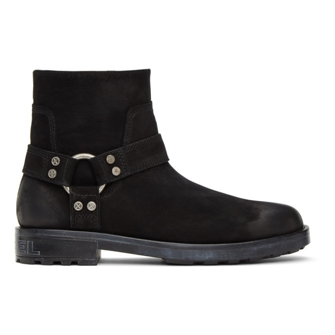Photo: Diesel Black Suede D-Throuper DBB Boots