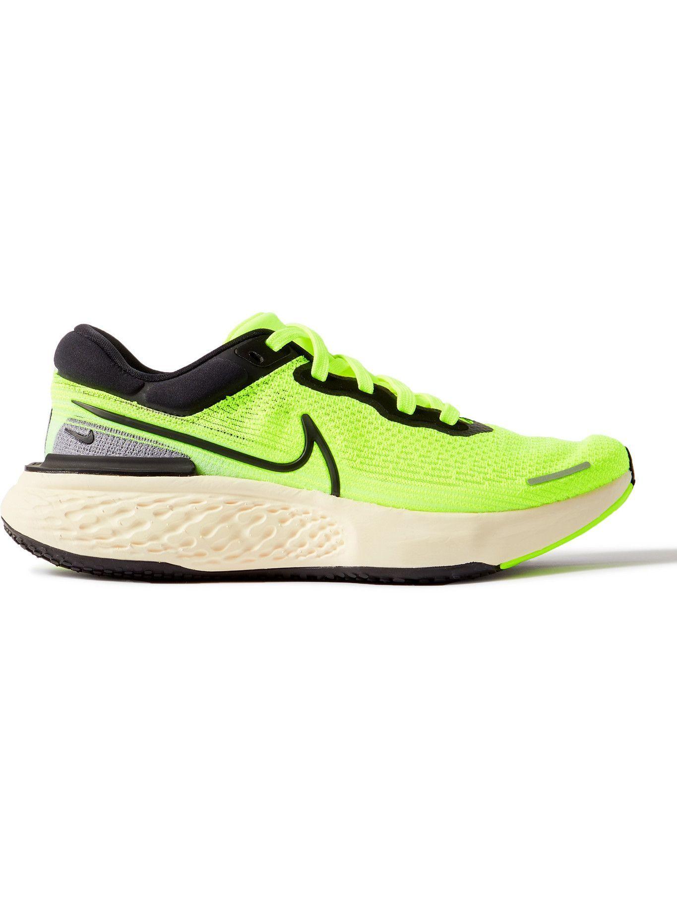 NIKE RUNNING - ZoomX Invincible Run Flyknit Sneakers - Yellow