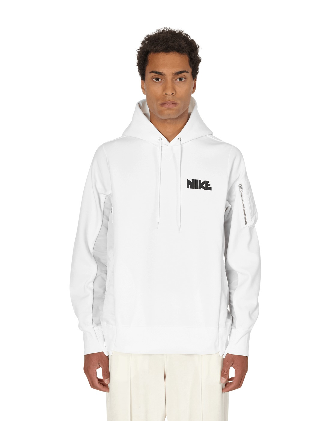 Nike Special Project Sacai Hooded Sweatshirt White