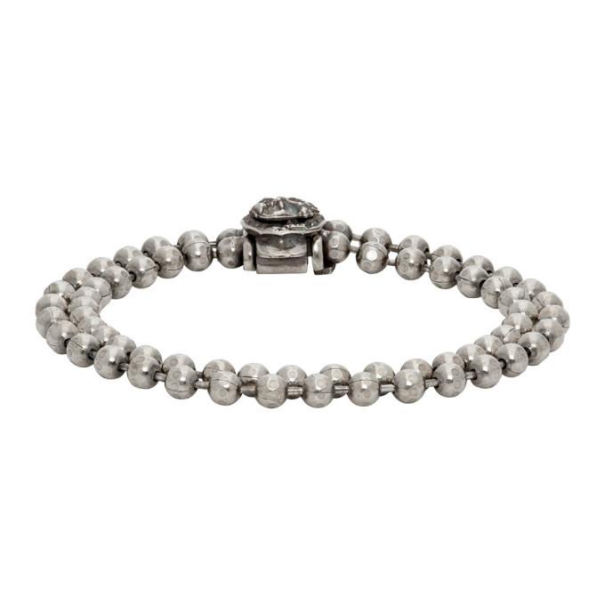 Photo: Emanuele Bicocchi SSENSE Exclusive Silver Double Beaded Bracelet