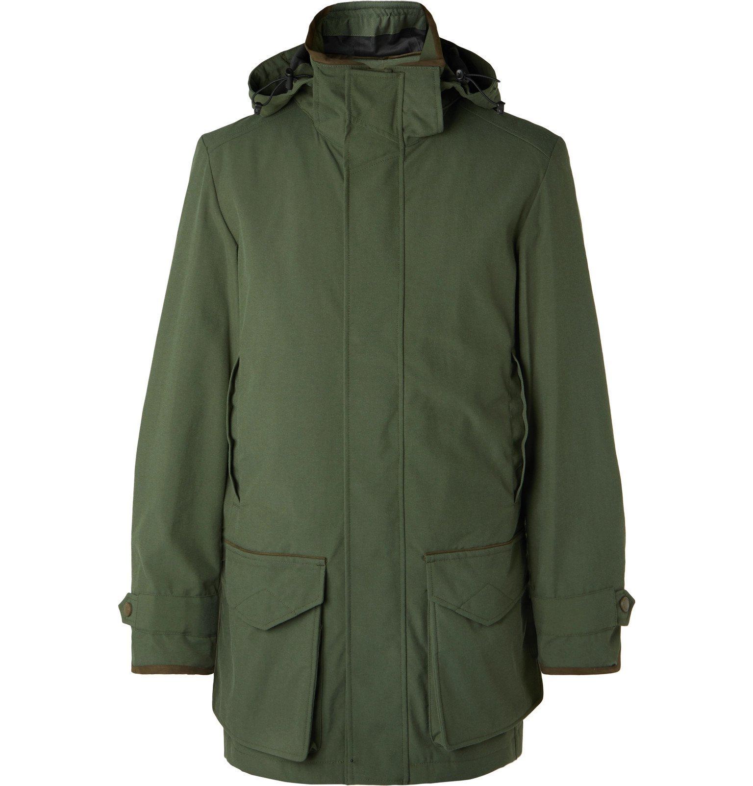 Photo: James Purdey & Sons - Snipe Shell Hooded Coat - Green