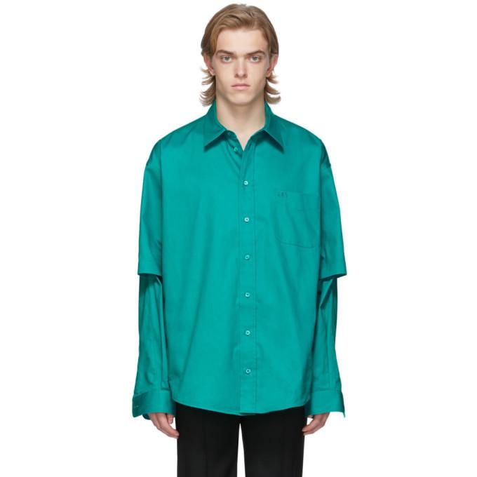 Photo: Balenciaga Blue Double Sleeve Shirt
