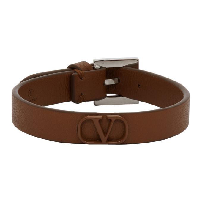 Photo: Valentino Brown Valentino Garavani VLogo Bracelet