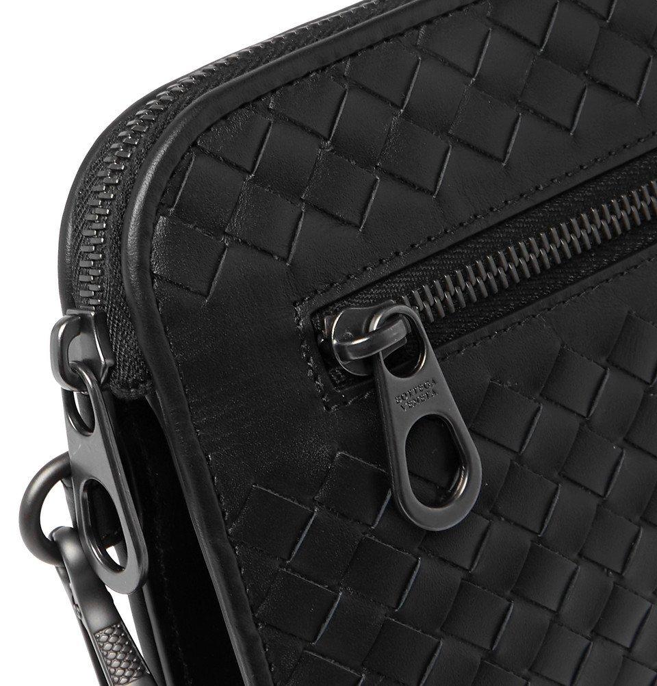 Bottega Veneta - Intrecciato Leather Travel Wallet - Men - Black