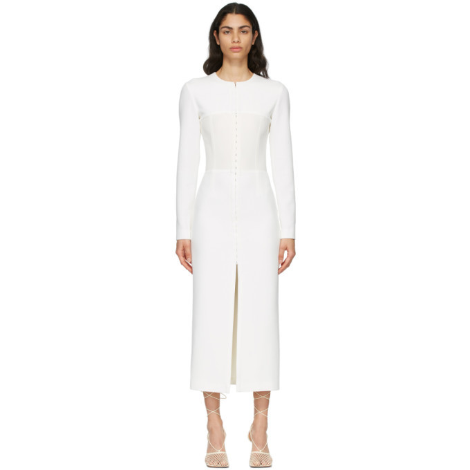 Photo: Dion Lee White Open Neck Bustier Dress