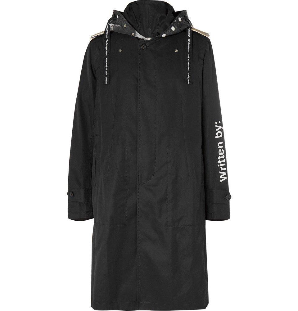Photo: TAKAHIROMIYASHITA TheSoloist. - Printed Cotton-Gabardine Trench Coat - Black