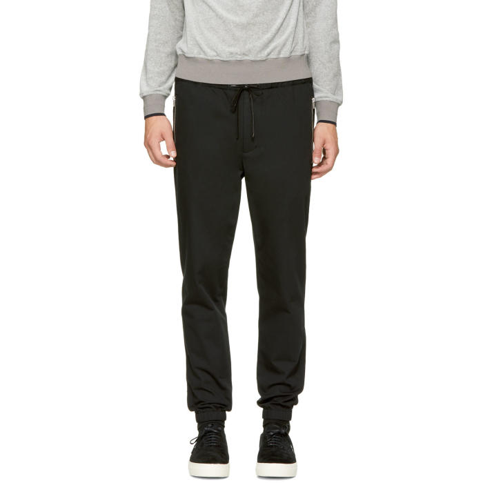 3.1 Phillip Lim Black Classic Side Zip Track Trousers