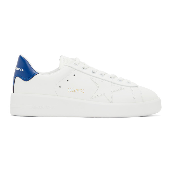 Photo: Golden Goose White and Blue Purestar Sneakers