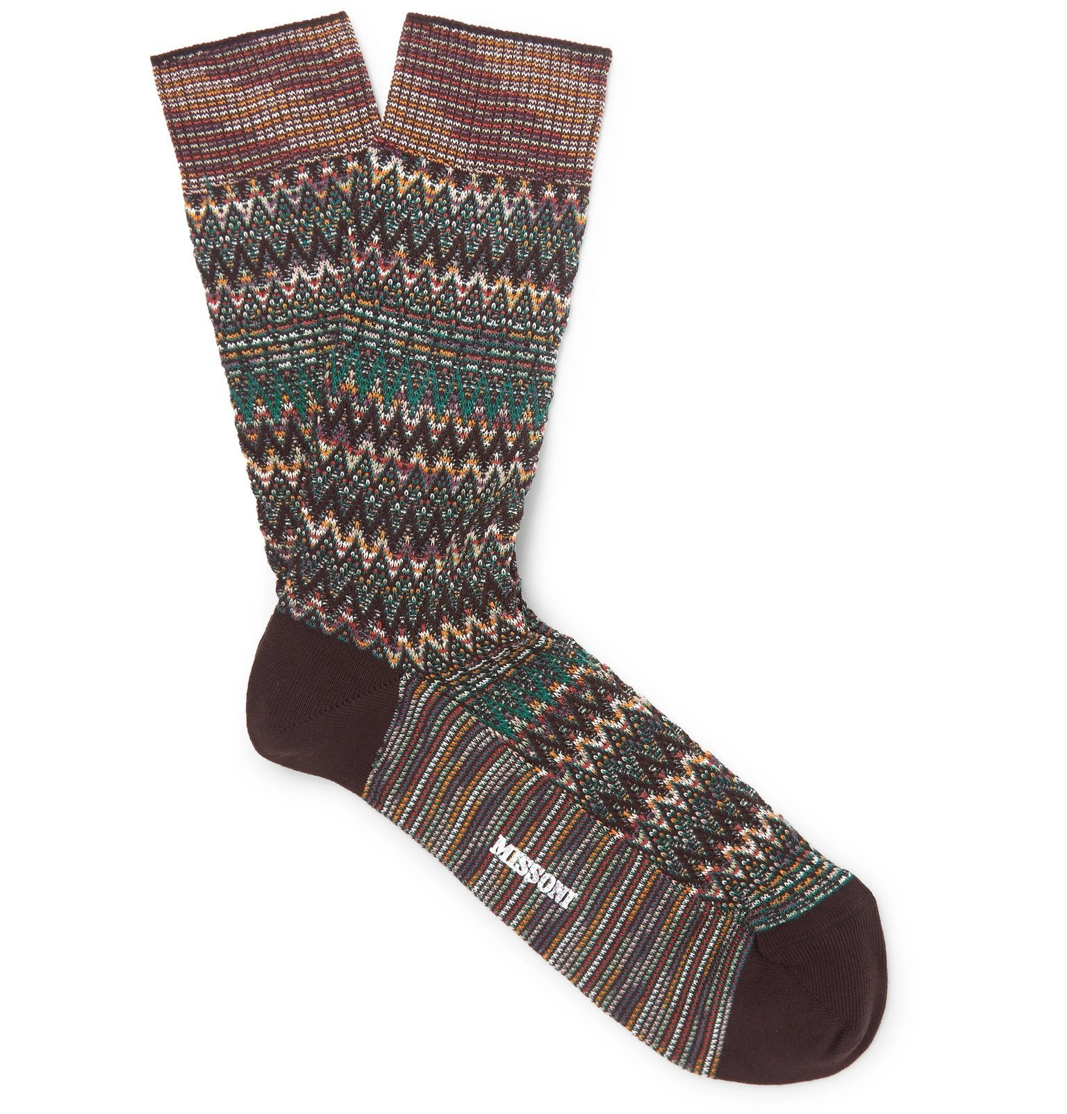 Photo: Missoni - Cotton-Blend Jacquard Socks - Green
