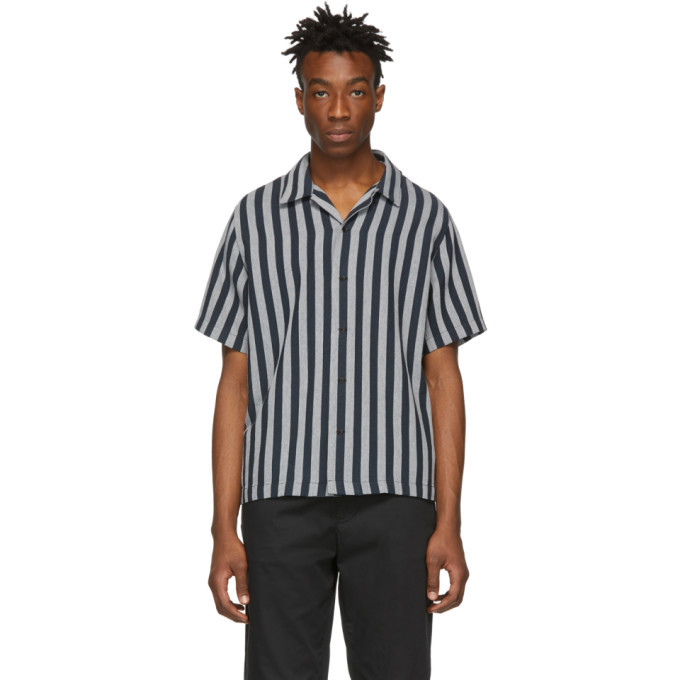 Photo: rag and bone Black and White Avery Short Sleeve Shirt