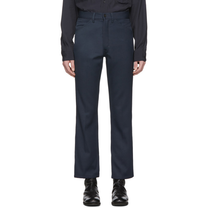 Photo: Lemaire Blue Boot Cut Trousers