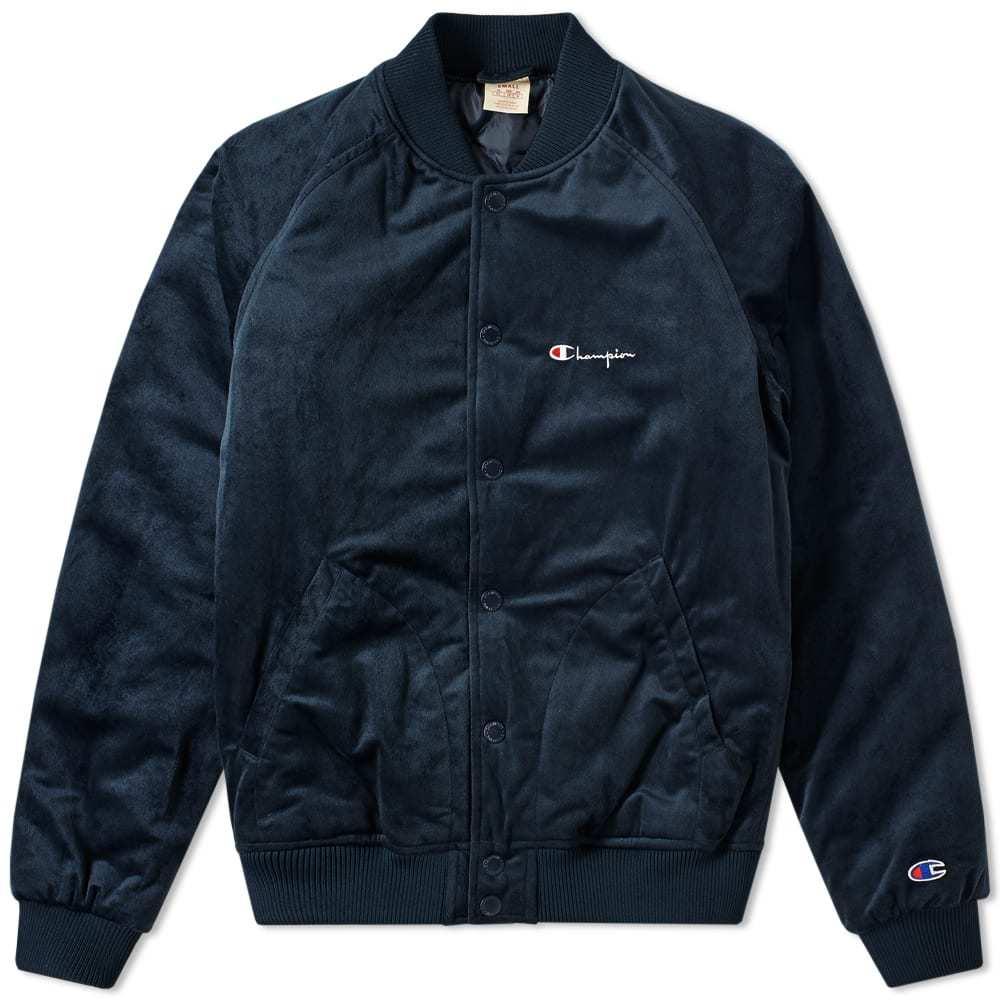 Photo: Champion Reverse Weave Velvet Bomber Jacket