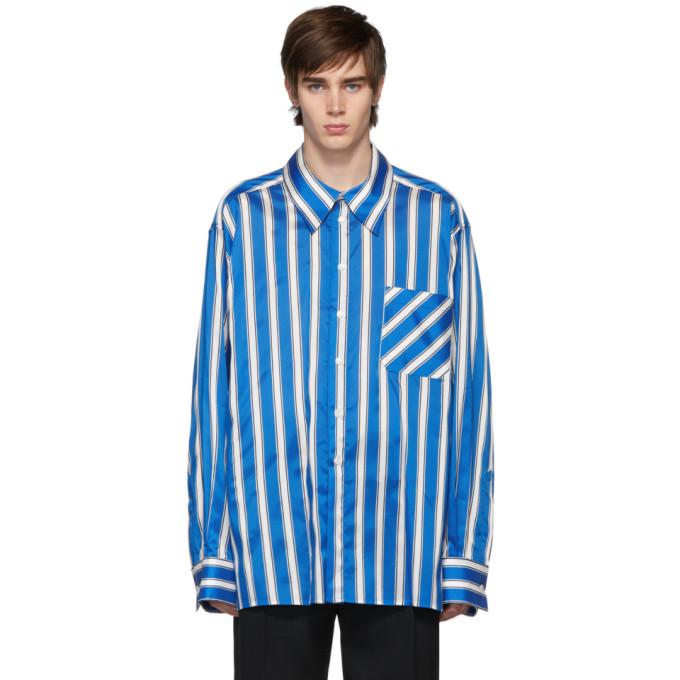 Photo: Botter Blue and White Stripe Side Label Shirt