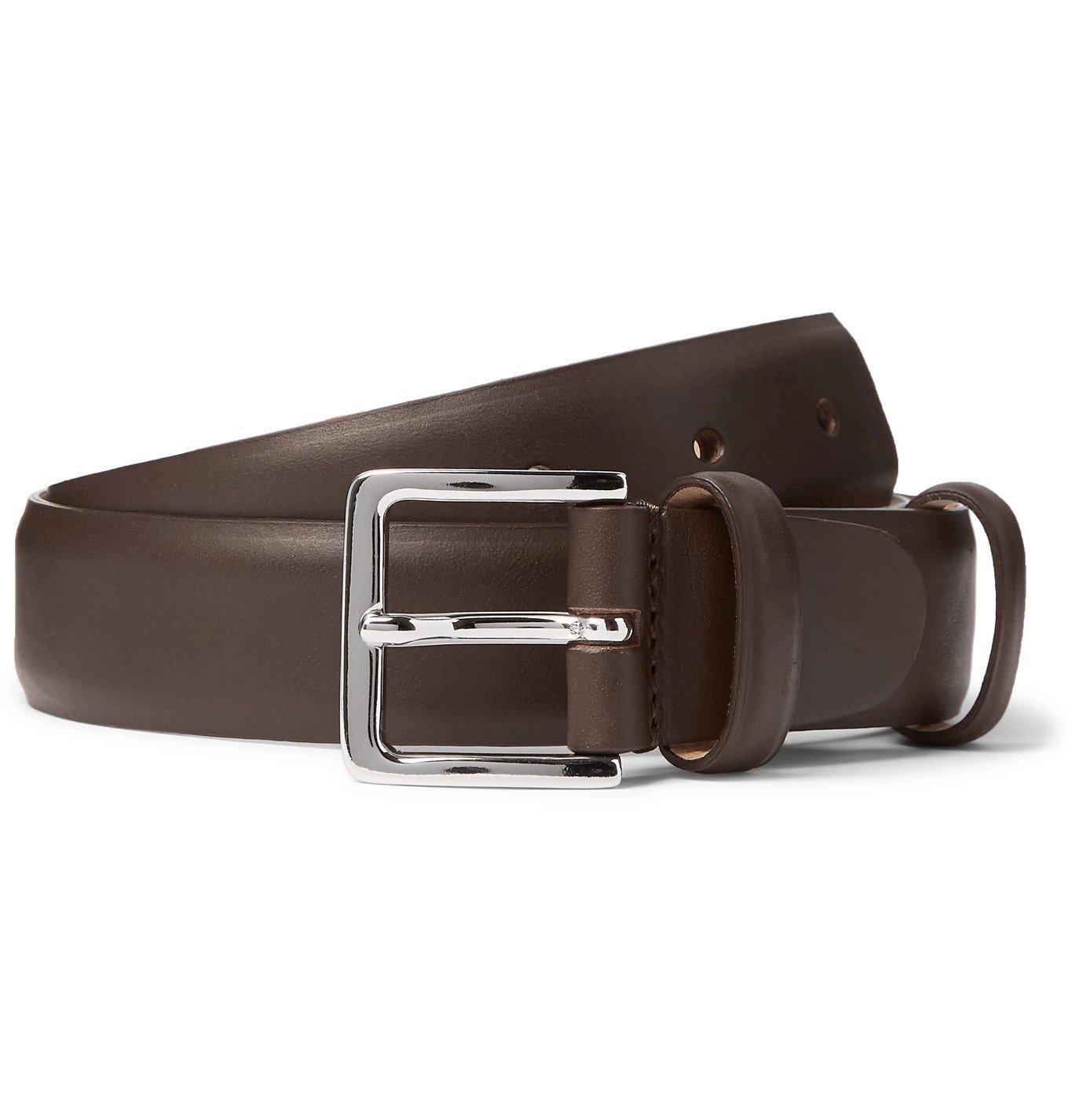 Photo: Mr P. - 3cm Leather Belt - Brown
