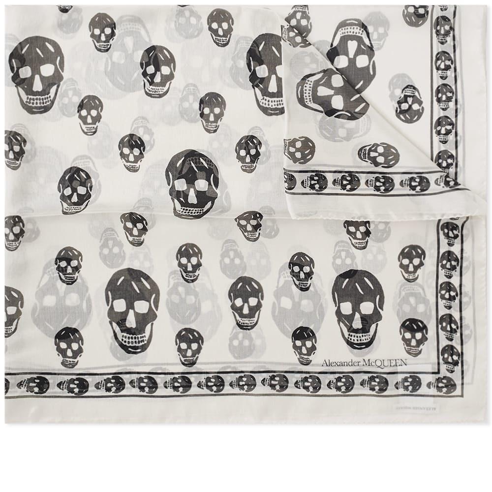 Photo: Alexander McQueen Skull Scarf Ivory & Black