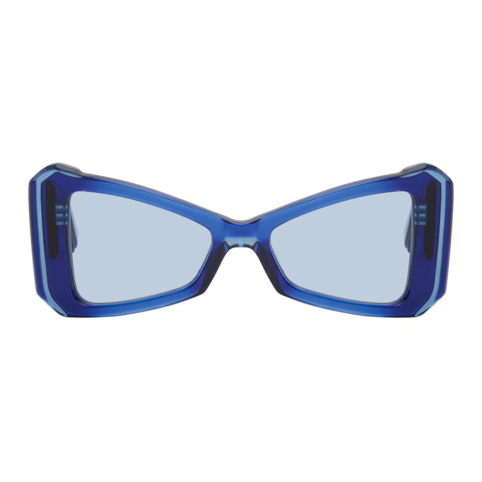 Photo: Maison Kitsune Navy Khromis Edition Cat-Eye Sunglasses