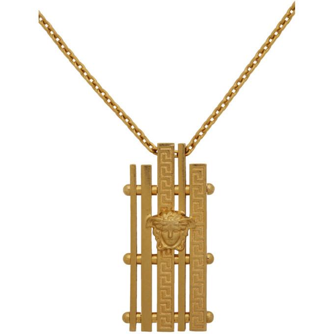 Versace SSENSE Exclusive Gold Medusa Greek Necklace
