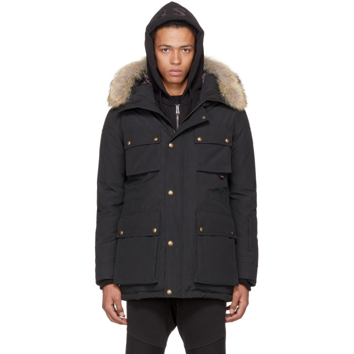 Photo: Belstaff Black Down Roadmaster BXS Parka