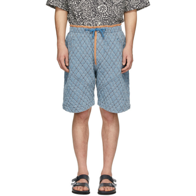 Photo: Isabel Marant Blue Quilted Denim Shorts