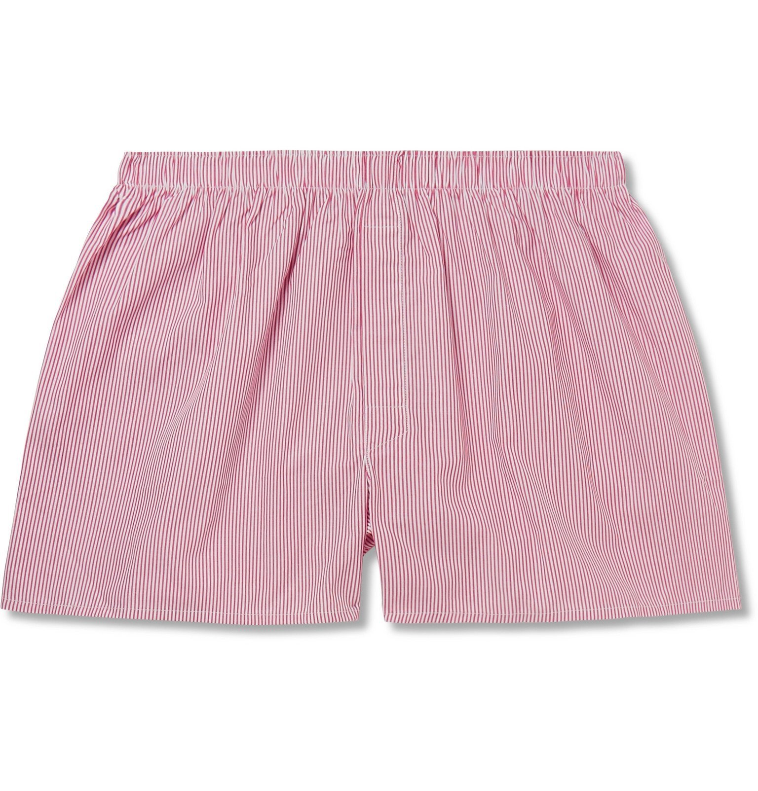 Photo: Sunspel - Striped Cotton Boxer Shorts - Pink