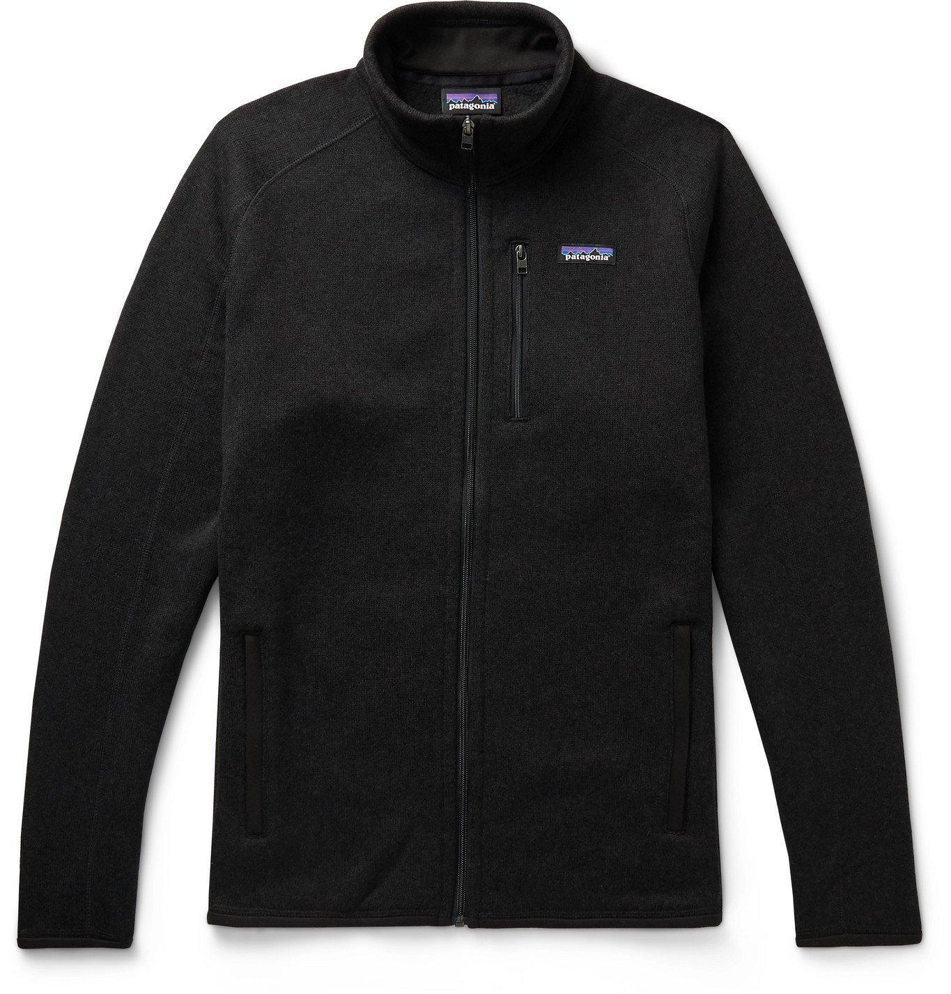 Photo: Patagonia - Better Sweater Mélange Fleece-Back Knitted Jacket - Black