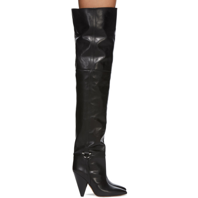 Photo: Isabel Marant Black Leather Lage Tall Boots