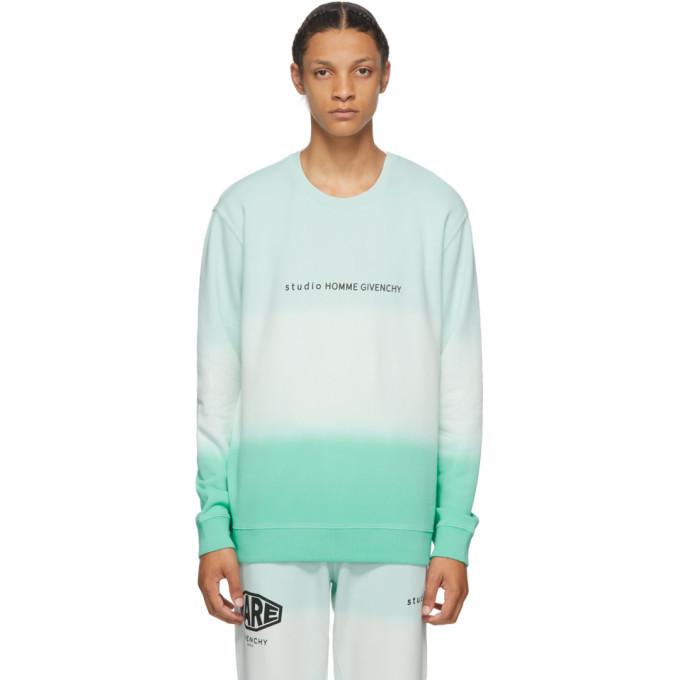 Photo: Givenchy Green Faded Effect Studio Homme Sweatshirt