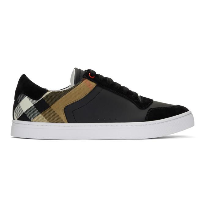 Photo: Burberry Black Reeth Low Sneakers