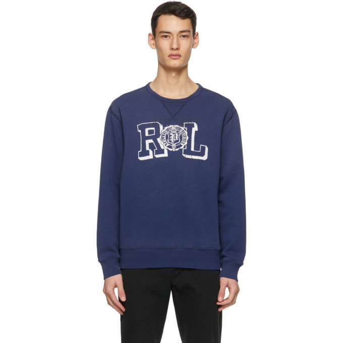 Photo: Polo Ralph Lauren Blue Fleece Vintage Graphic Sweatshirt