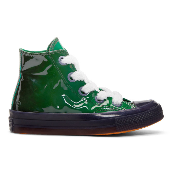Photo: JW Anderson Green Converse Edition Patent Sneakers