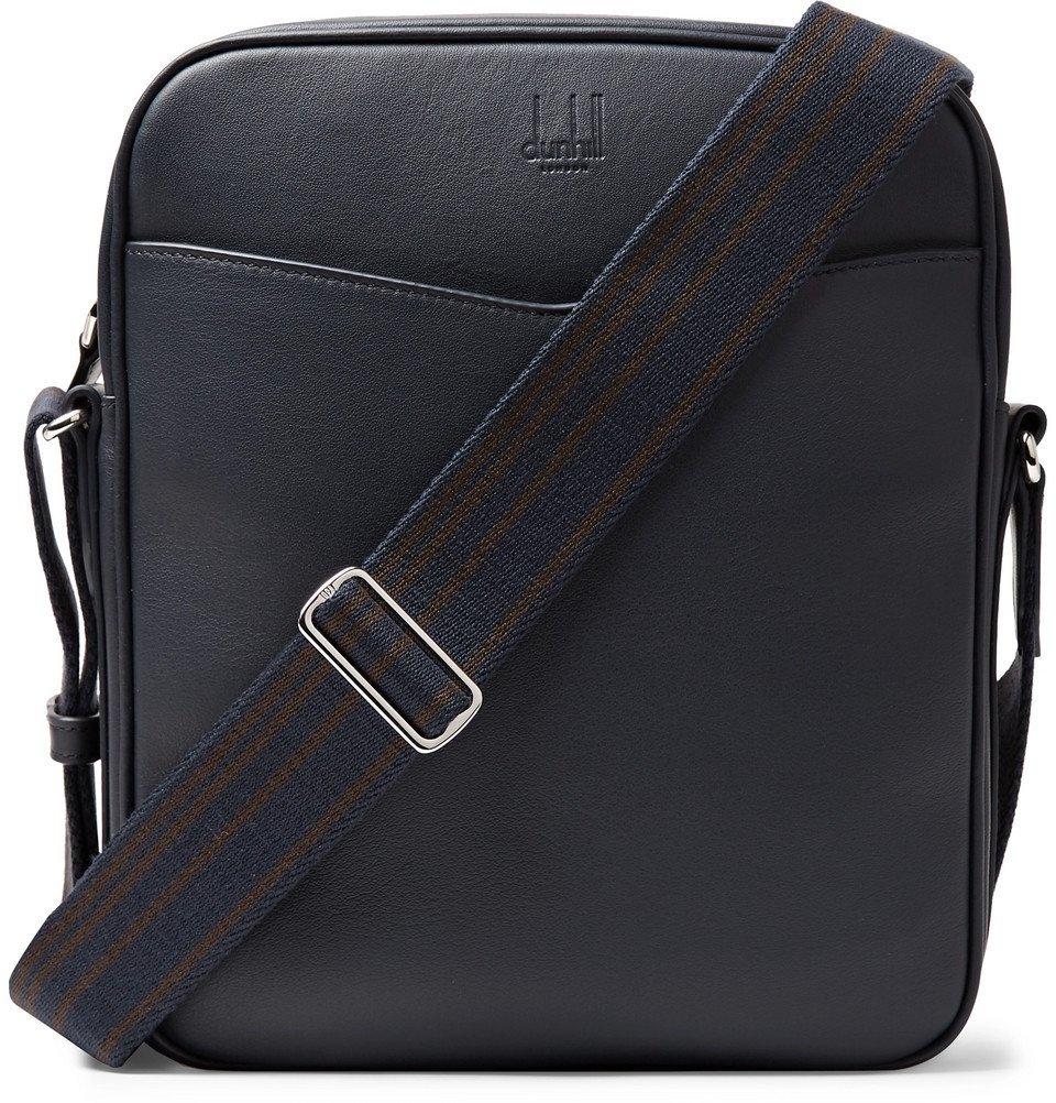 Dunhill - Hampstead Full-Grain Leather Messenger Bag - Men - Navy