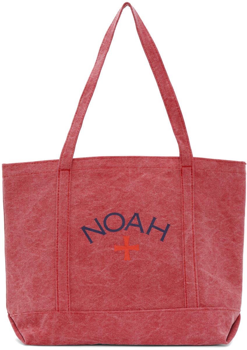 Photo: Noah Red Recycled Canvas Core Logo Tote