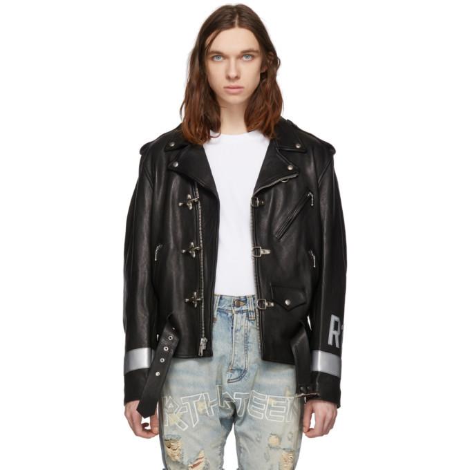 Photo: R13 Black Leather Motorcycle Jacket